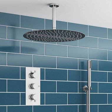 Adele Concealed Shower Valve, Fixed Head & Shower Handset